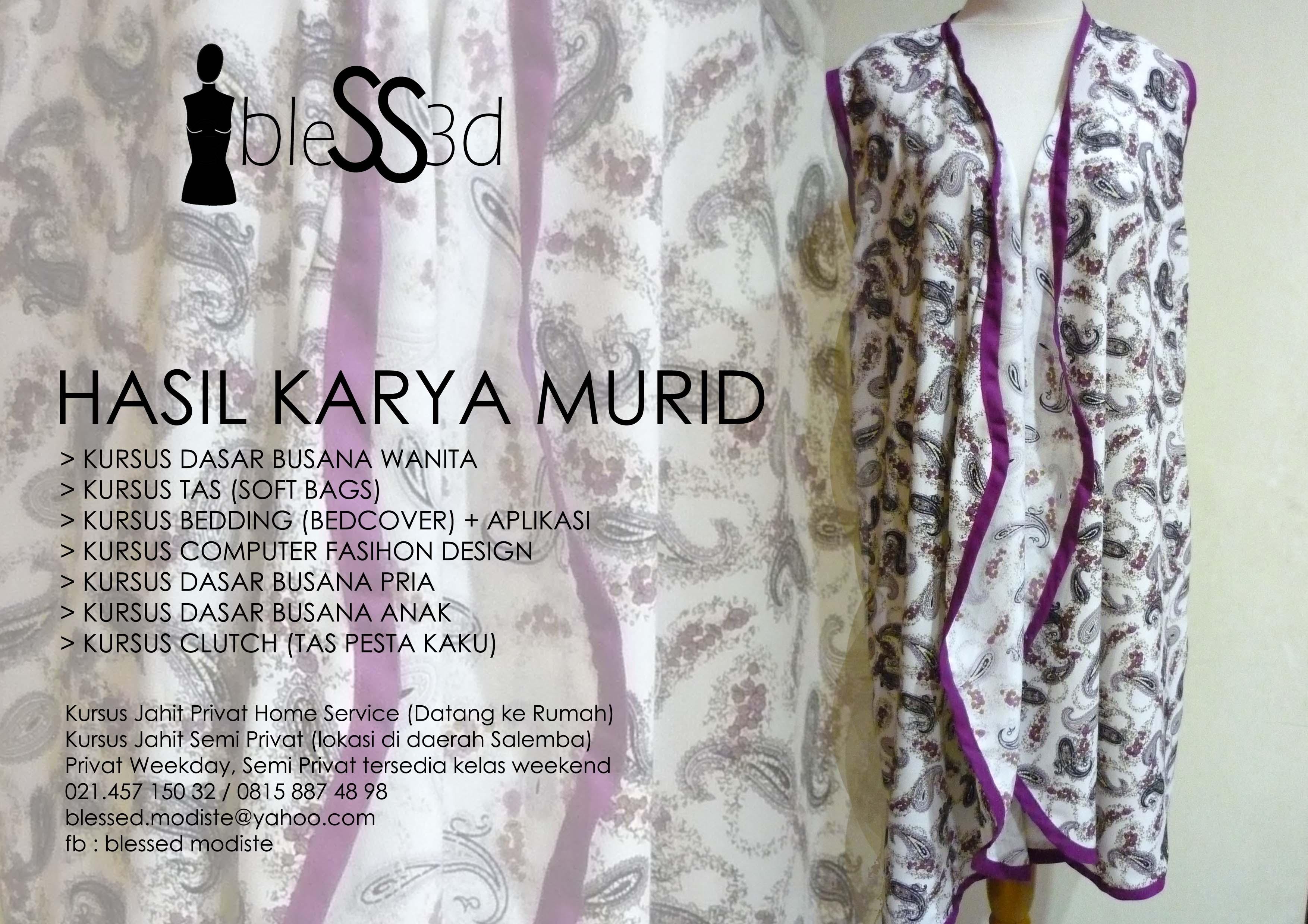 KURSUS PRIVAT JAHIT – DATANG ke rumah ANDA (Jakarta)
